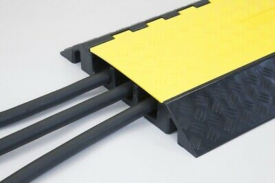 Cable Protector  (3 Channels) Speed bump 12,000kg Capacity Black & Yellow 1 Y...