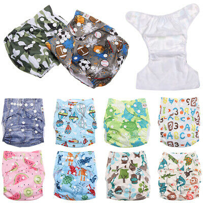 Infant Adjustable Breathable Washable Pocket Baby Diaper Reusable Cloth Nappies