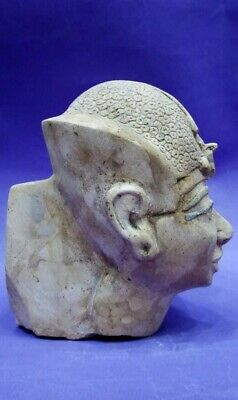 RARE ANCIENT EGYPTIAN ANTIQUES King Ramses Head Egypt Limestone 1289-1268 BC