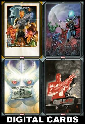 Topps Marvel Collect COMIC BOOK DAY March 11 2020 [4 CARD GOLD/SILVER SET]