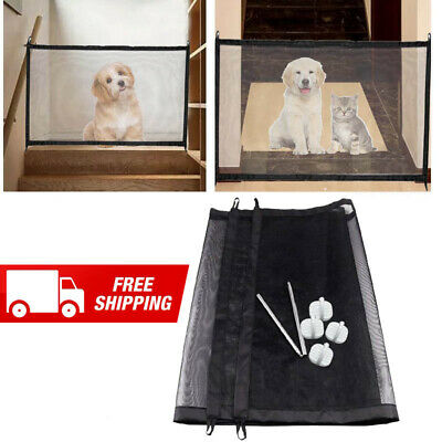 Magic Pet Dog Gate Fence Barrier Portable Kids & Pets Safety Door Guard Puppy