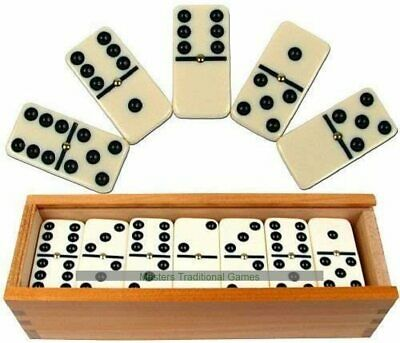 Pack of 2 Official Pub Players Club Dominoes With Brass Spinner 11mm Thickness