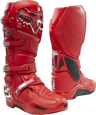 Fox Instinct Motocross MX OffRoad Race Boots FLAME RED Adults