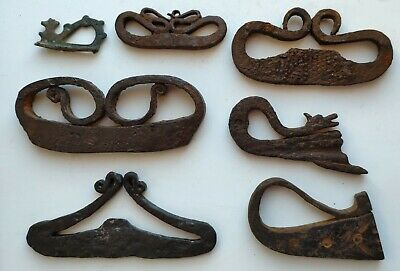 Lot of rare ancient lighters Medieval Fire Striker Fire Steel 7 pieces. Dradon