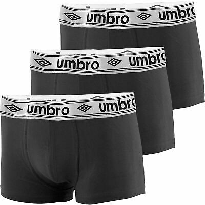 New Mens 3 6 9 Pack Umbro Boxer Shorts Underwear Trunks Designer Boxers S-XXL