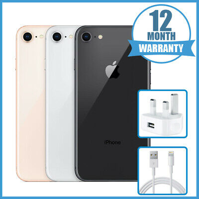 Apple iPhone 8 64GB 256GB - Unlocked - Various Colours - 12 Months Warranty UK