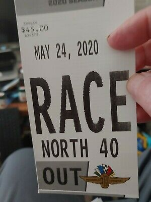 """1  Lot 7 """"North 40"""" Parking Pass  2020 Indianapolis Indy 500 5-24  Turns 3 & 4"""