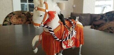 Antique DOLL Japan UMA Horse 25cm Japanese Saddle SAMURAI