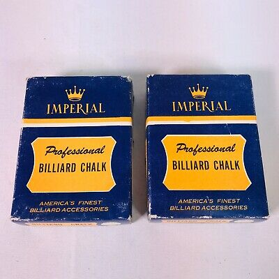 Imperial Professional Billiard Chalk Green VTG 16 Unused Plus 5 Bonus In Boxes.