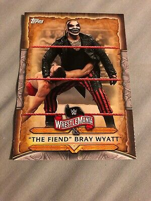 The Fiend Bray Wyatt 2020 Topps WWE Road to Wrestlemania Base Card #WM-14