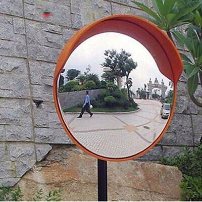 "12"" Wide Angle Security Curved Convex Road Mirror Traffic Signs Driveway Safety"