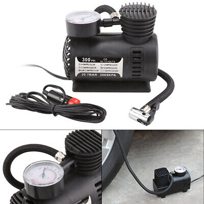 Car Tyre Air Compressor Pump Bike Cycle Compact 12V 300PSI Electrical Inflator