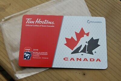 Tim Hortons Gift Card 2019 Iihf World Junior Championship Canada , No Value