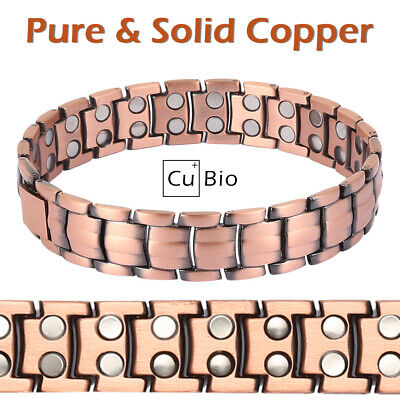Pure Solid Copper Therapy Magnetic Chain Bracelet Men Arthritis Pc03C
