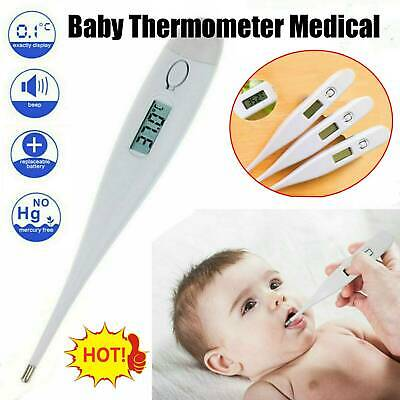 Digital LCD Thermometer Medical Baby Adult Body Kids Safe Ear Oral Temperature
