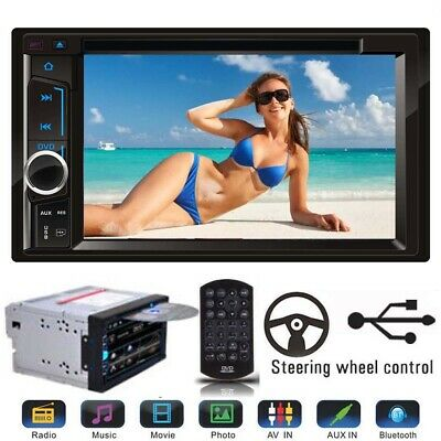 """Double DIN6.2"""" In dash Car Stereo Radio CD DVD MP4 Player FM/USB/SD Bluetooth UK"""