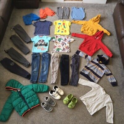 Boys Clothes Bundle 2-3 Nike Adidas Trainers Jeans Hoodies T-shirts Next John Le