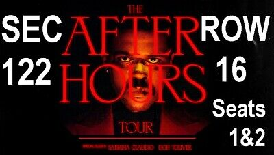 THE WEEKEND Concert Tickets, Toronto After Hours Tour, - Aisle Seats - June 29