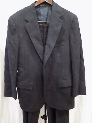 POLO University Club Ralph Lauren Wool Navy Pinstripe 2Pc Suit 38S/30-26 (227)