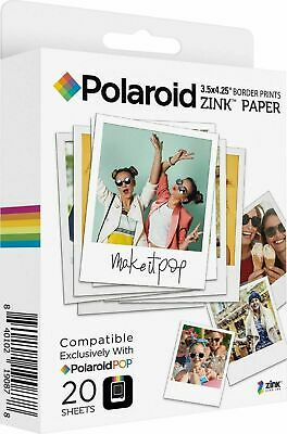 NEW Polaroid POP Instant Print Paper 20-Pack - ZINK white Border 3.5x4.25