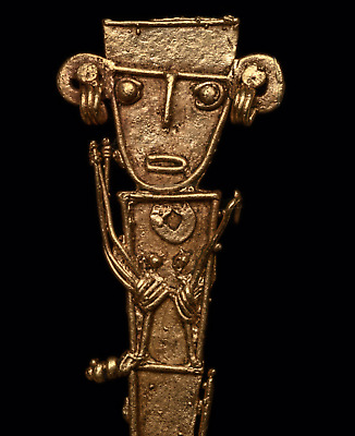 Pre-Columbian Gold Figural Gold Pendant Colombia Ca. 800-1500 A.D.