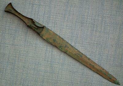 Ancient 1200 -1000 B.C. Western Asiatic Luristan Type Bronze Dagger Sword