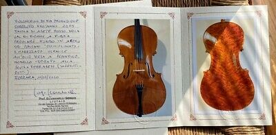 CELLO  S. SCARAMELLI, Ferrara 2010 CERTIFICATE, YOUTUBE violoncello italiano old