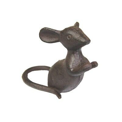Cast Iron Leaning Mouse for Plant Pot Garden/Home Ornament.Solid & Heavy.Gift