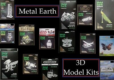 FREE SHIPPING - Fascinations / Metal Earth 3D Steel Model Kits - Various Themes