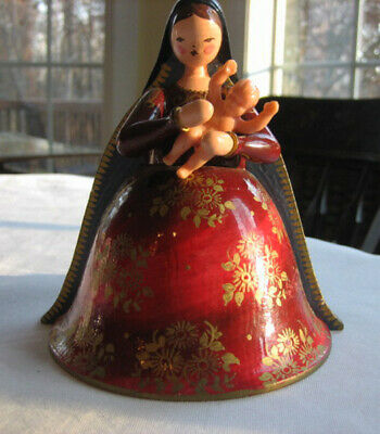 Wendt & Kuhn Wooden Figurine Madonna w/ Child--Hand Painted