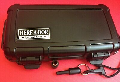 Herf a Dor by Humi-Care Travel Humidor 5 cigars capacity & Cigar Punch Cutter