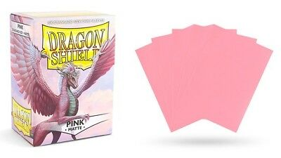 Dragon Shield - Mat Pink 100 Protective Sleeves Cases Standard Card Sleeves