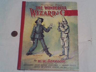 Pictures From The Wonderful Wizard of Oz By W.W. Denslow Circa 1903 Book RARE! +