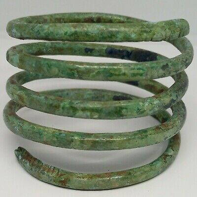 Bronze Art Spiral Bracelet / Snake / Ornament Celtic Koban Scythians 800-500BC