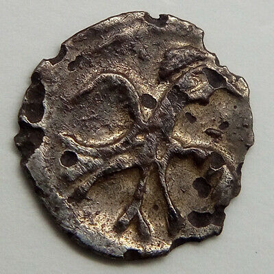 Silver Coin Polushka Moscow Ivan Rurikid the Terrible IV 1547-1584AD. Rus Viking