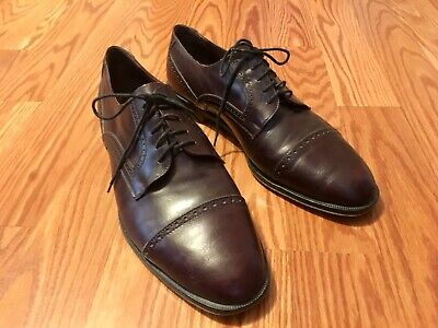 Vito Rufolo Mahogany Brown Cap Toe Italian Oxford in Men's Size 11 Italy Leather