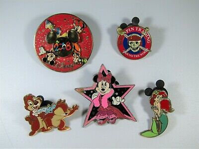 Disney Trading Pin Lot - Minnie, Arial, Chip & Dale, Spinner w/ Mickey,Donald,