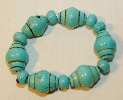 Beautiful old Turquoise Stretch Bracelet