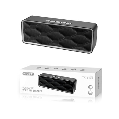 ALTAVOZ PORTATIL CON BLUETOOTH ALTAVOCES INALAMBRICO DE USB MICRO SD RADIO maxam