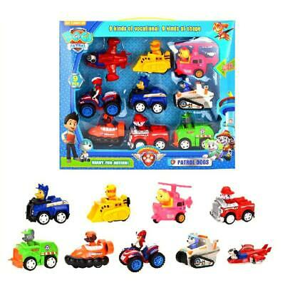 9PCS Doll Puppy Paw Patrol Dogs Movable Joints Figure Patrulla Canina Car Toy