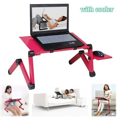 360° Laptop Table Stand Folding Desk Bed Computer Study Adjustable Mouse Tray
