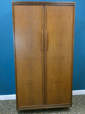 Retro Teak Wardrobe, vintage double Elliotts of Newbury with drawers, Northants