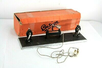 rare 30's ENSIGN cine 16mm REWINDER/editing viewer, cast iron base, boxed