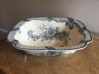 ANTIQUE Beautiful 19th century ~ WASH Stand Bowl ~ ROYAL DOULTON ~ Chrysanthemum