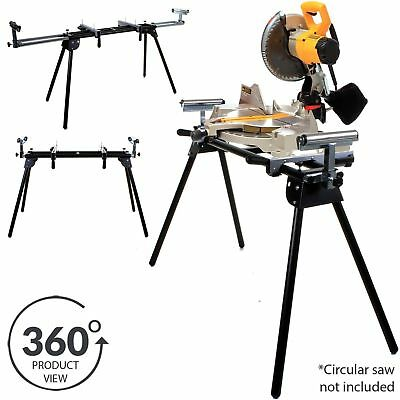 Large Adjustable Mitre Saw Stand Portable Folding Legs Heavy Duty Steel Fits All