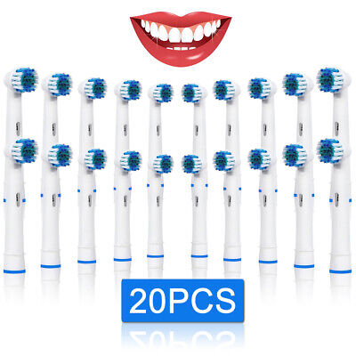 20 Replacement Brush Heads Compatible With Oral-B Rechargeable Toothbrush UK Set