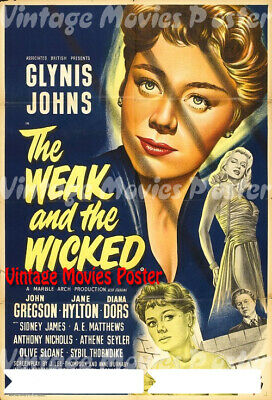 The Weak and the Wicked 1954 Reproduction UK Johns Quad Poster J. Lee Thompson