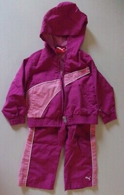 Toddler Girl's Puma Sport Lifestyle Jogging Track Suit Set size 18 month