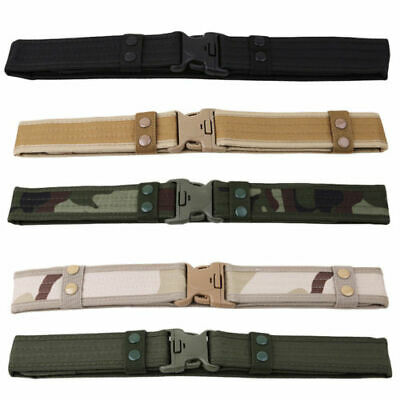 Men's Outdoor Military Training Tactical Belt Adjustable Comfortable Utility US