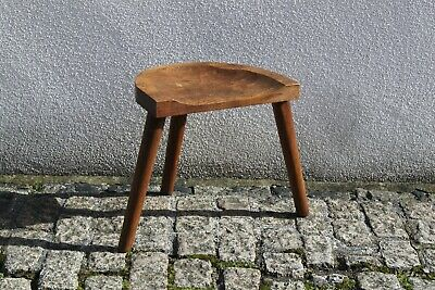 Vintage Wooden 3 Legged Milking Stool Rustic Farmhouse 61x36x45cm